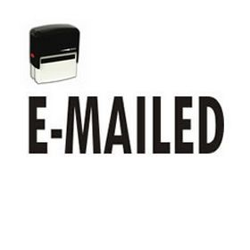 Self Inking E-Mailed Rubber Stamp (Large)