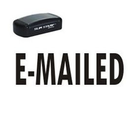Slim Pre-Inked E-Mailed Rubber Stamp (Large)