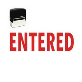 Self-Inking Entered Stamp