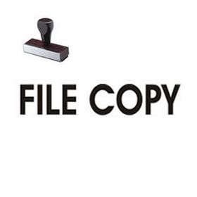 File Copy Rubber Stamp