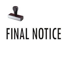 Regular Final Notice Rubber Stamp (Large)