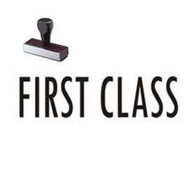 Large Regular First Class Rubber Stamp