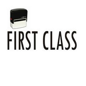 Large Self Inking First Class Rubber Stamp