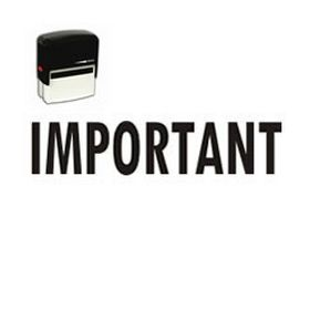 Self Inking Important Rubber Stamp (Large)