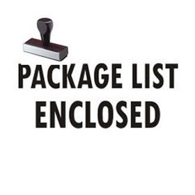 Large Regular Package List Enclosed Rubber Stamp