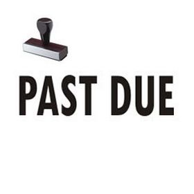 Regular Past Due Rubber Stamp (Large)