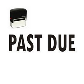 Self Inking Past Due Rubber Stamp (Large)
