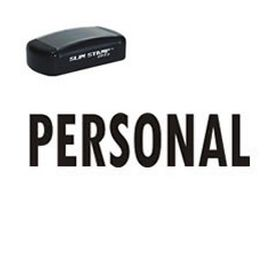 Slim Pre-Inked Personal Rubber Stamp (Large)