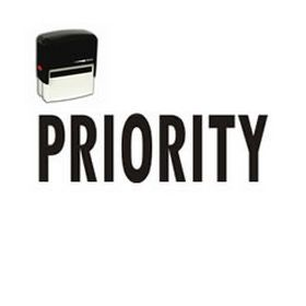 Large Self Inking Priority Rubber Stamp