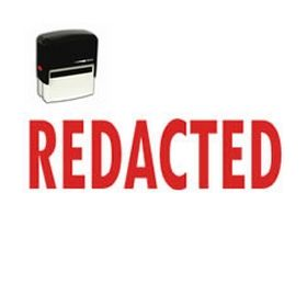 Large Self Inking Redacted Rubber Stamp