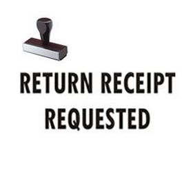 Regular Return Receipt Requested Rubber Stamp (Large)