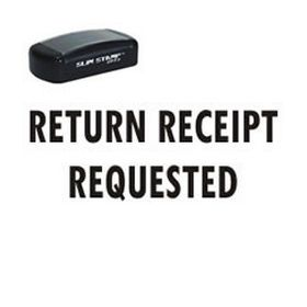 Pre-Inked Return Receipt Requested Stamp