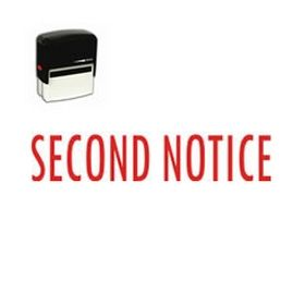 Large Self Inking Second Notice Rubber Stamp