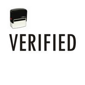 Large Self Inking Verified Rubber Stamp