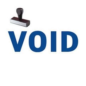 Void Office Rubber Stamp