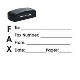 Slim Pre-Inked Fax It 1 Rubber Stamp