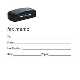 Slim Pre-Inked Fax It 2 Stamp