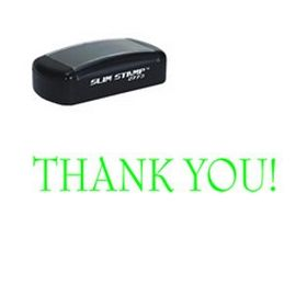 Slim Pre-Inked Thank You Rubber Stamp