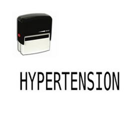 Self Inking Hypertension Rubber Stamp