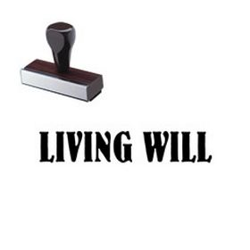 Living Will Rubber Stamp