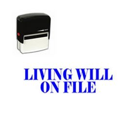 Self Inking Living Will on File Rubber Stamp
