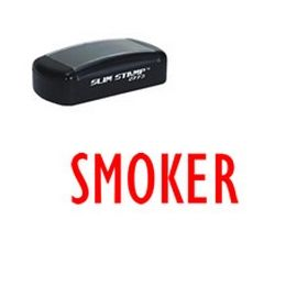 Slim Pre-Inked Smoker Rubber Stamp