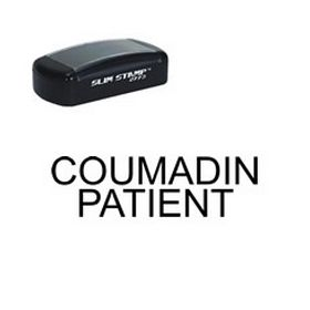 Slim Pre-Inked Coumadin Patient Stamp