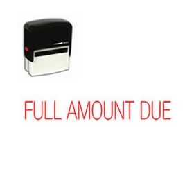 Self-Inking Full Amount Due Stamp