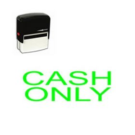 Self Inking Cash Only Rubber Stamp