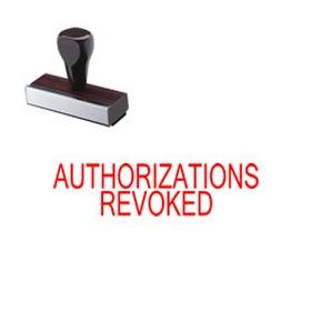 Authorizations Revoked Rubber Stamp