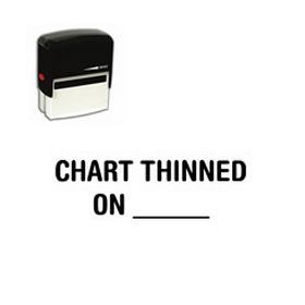 Self Inking Chart Thinned On _____ Rubber Stamp