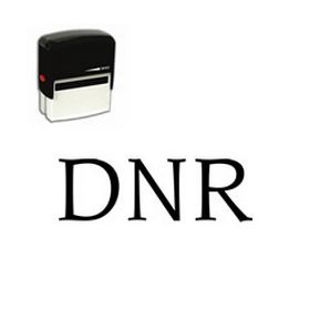 Self Inking DNR Rubber Stamp