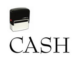Self Inking Cash Rubber Stamp