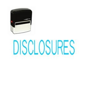 Self-Inking Disclosures Stamp