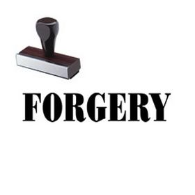 Regular Forgery Rubber Stamp