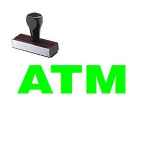 ATM Rubber Stamp