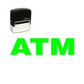 Self Inking ATM Rubber Stamp