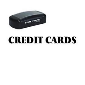 Slim Pre-Inked Credit Cards Stamp