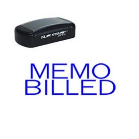 Slim Pre-Inked Memo Billed Stamp