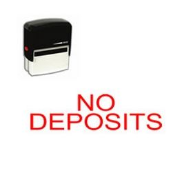 Self Inking No Deposits Rubber Stamp