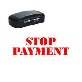 Slim Pre-Inked Stop Payment Rubber Stamp
