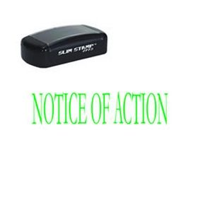 Slim Pre-Inked Notice of Action Rubber Stamp