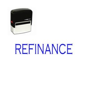 Self Inking Refinance Rubber Stamp