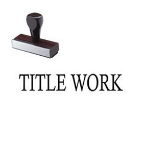 Title Work Rubber Stamp