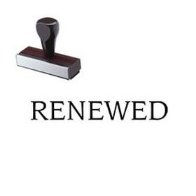 Renewed Rubber Stamp