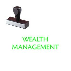 Wealth Management Rubber Stamp