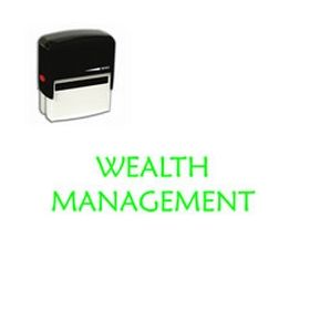 Self Inking Wealth Management Rubber Stamp