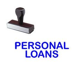 Personal Loans Rubber Stamp