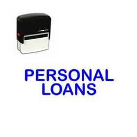 Self Inking Personal Loans Rubber Stamp