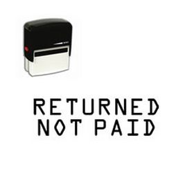 Self Inking Returned Not Paid Rubber Stamp